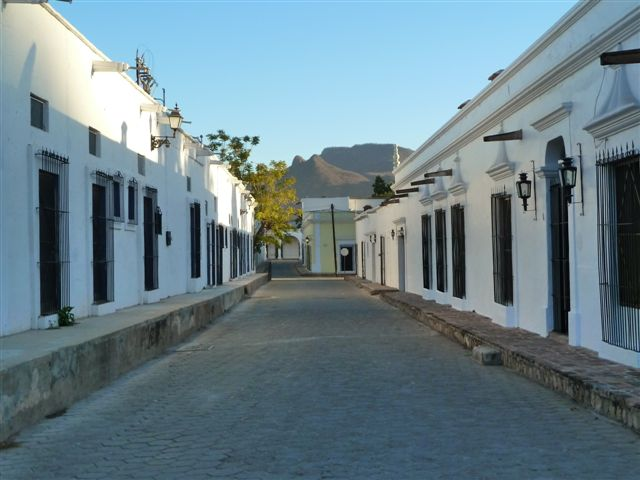 Quite Street in Alamos at 6:30 a.m.